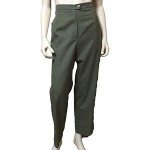 Dress Barn Green High Waist Pants Size-14